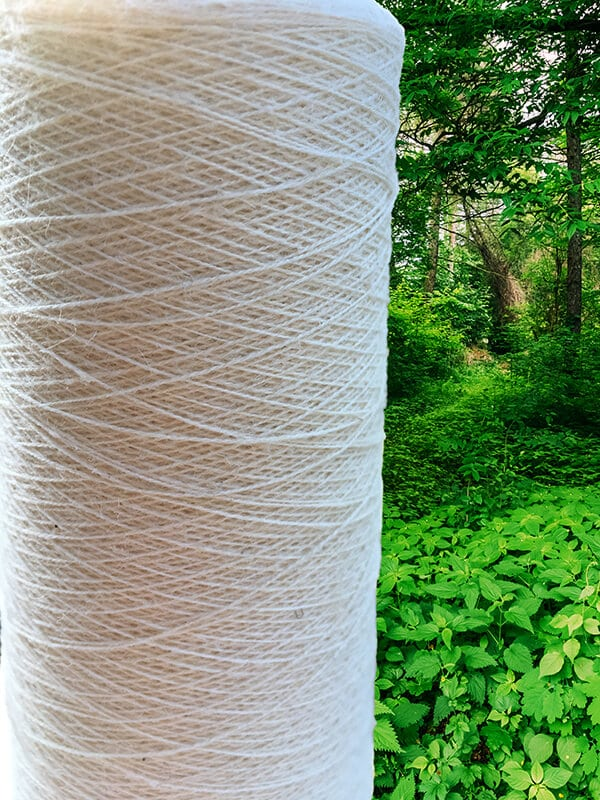 Ecological nettle yarn